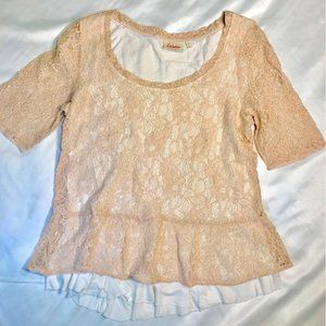 Anthropologie Deletta Lace Layered Shirt M